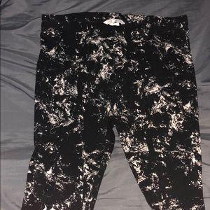 Marbled pattern Leggings